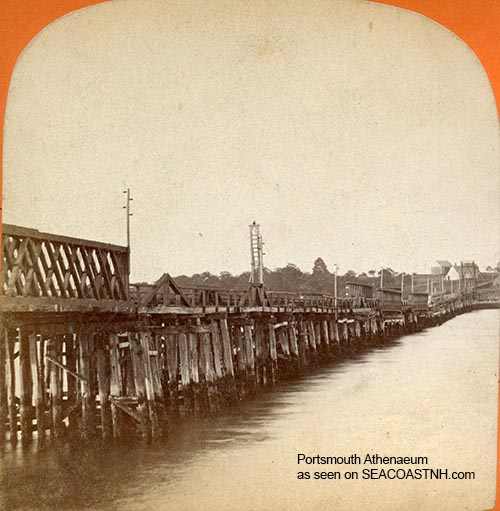 Pile Bridge, Portsmouth, NH tfrom Kittery to Portsmouth, Portsmouth Athenaeum photo