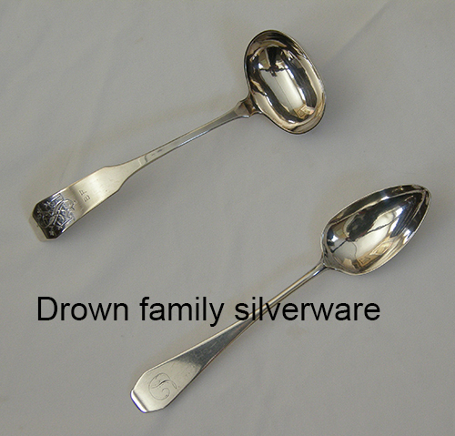 Silverware by the Drown family of Portsmouth, NH