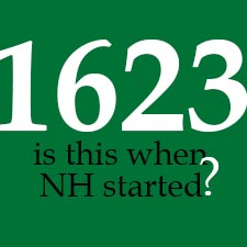 Was NH founded in 1623 and where?