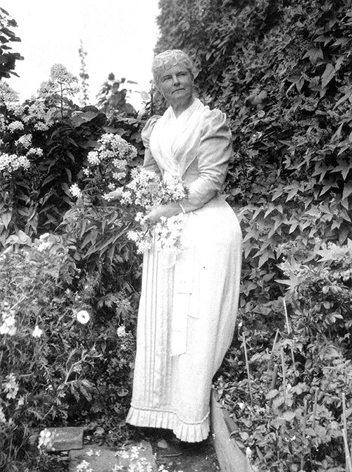 Celia Thaxter in her garden on Appledore Island