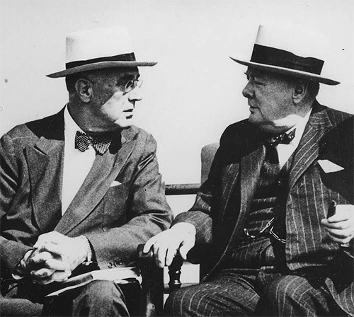 President Roosevelt and Prime Minister Winston CHurchill
