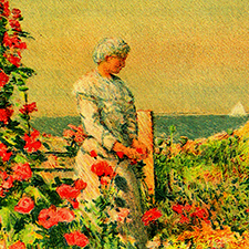 Detail of Celia's garden by Childe Hassem