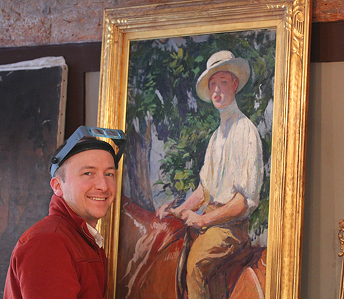 Jeremy Foog with Tarbell painting