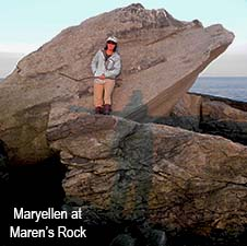 Maryellen at Marens Rock