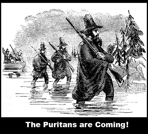 Mass Bay Puritans take over Northern New England