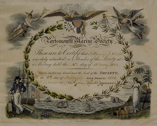 1808 Membership form for Portsmouth Marine SOciety