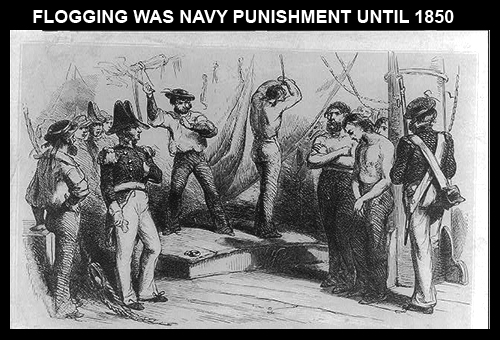 Flogging in navy before 1850