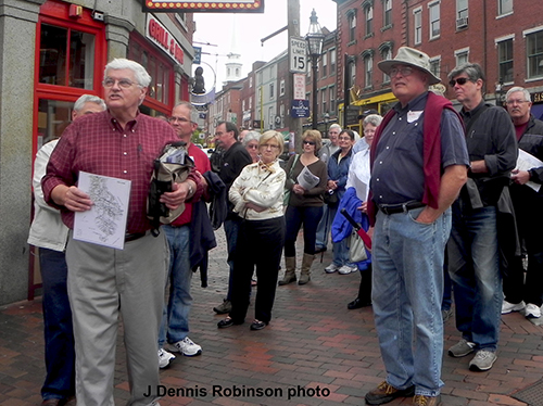 Richard Candee walking tour by J Dennis Robinson