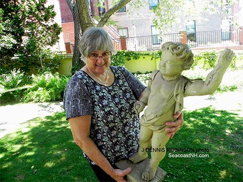 Sandra Rusx with Pooty at Portsmouth Historical Society / SeacoastNH.com photo