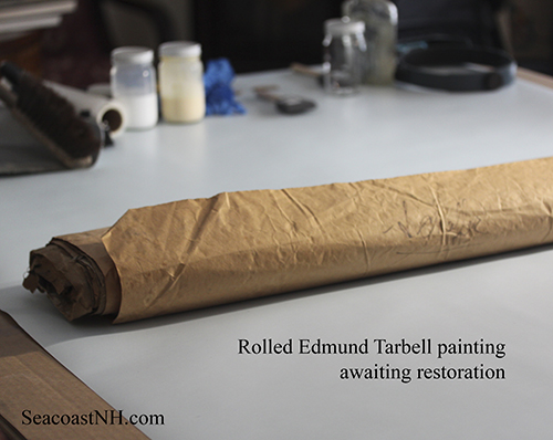Tarbell rolled painting