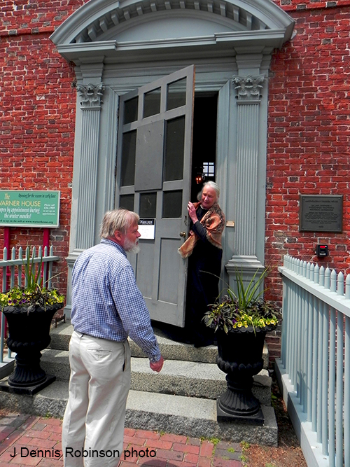 guest visits Warner House, photo by J Dennis Robinson