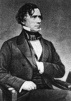 Franklin pierce seated