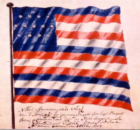 Ranger or serapis flag of John Paul Jones