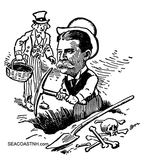 horace porter and uncle sam cartoon