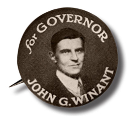 NH Governor John Winant campaign button