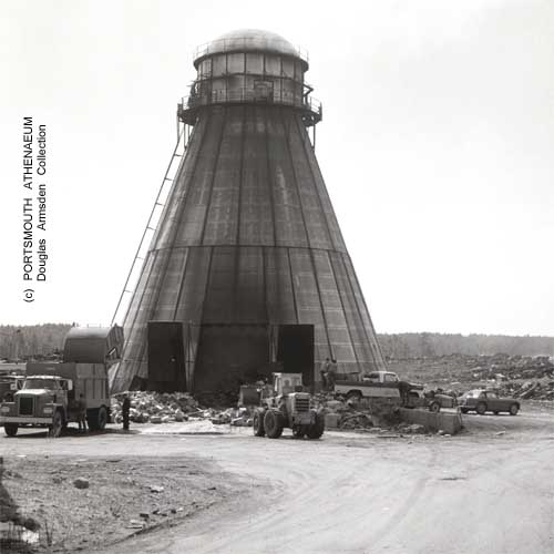Incinerator at Jones Dump, Portsmouth, NH 1960s. Portsmouth Athenaeum photo