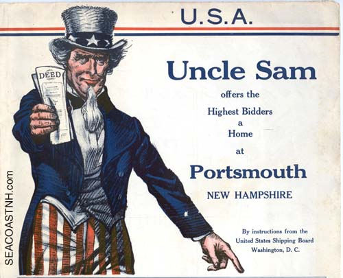 Uncle Sam sells off Porstmouth NH Real Esate in 1925 / SeacoastNH.com courtesy Kevin Lafond