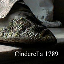 Brocade slipper 1789 / SeacoastNH.com photo