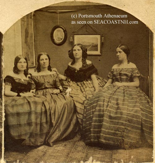 Four girls in Civil War fashions including Lizzie Gerrish (c) Portsmouth athenaeum as seen on SeacoastNH.com