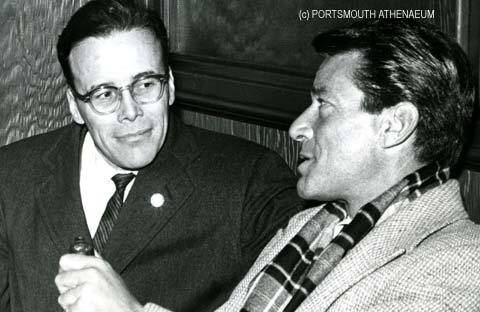 Attorney Jeremy Waldron and actor Efrem Zimbalist Jr in Portsmouth, NH in 1964 (c) Portsmouth Athenaeum