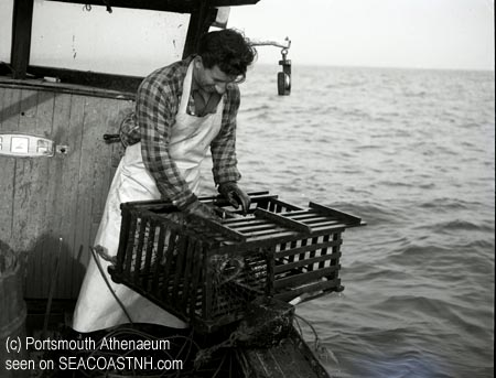 Lobsterman off Portsmouth Harbor in 1953 / Portsmouth Athenaeum