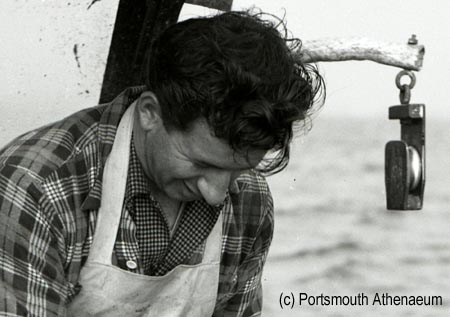 Lobster fisherman Louis Pento in 1953 by Doug Armsden on SeacoastNH.com
