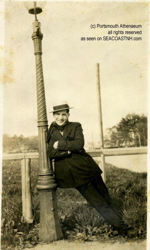 Harry_Winebaum arrives in Portsmouth, NH circa 1926 ?Portsmouth Athenaeum photo