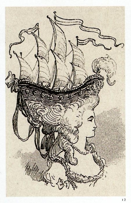 marie_antoinette in ship shaped hat
