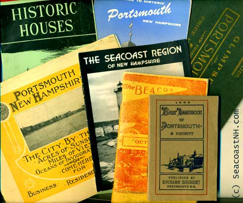 Collage of Portsmouth NH Guidebooks from the 20th century /SeacoastNH.com photo