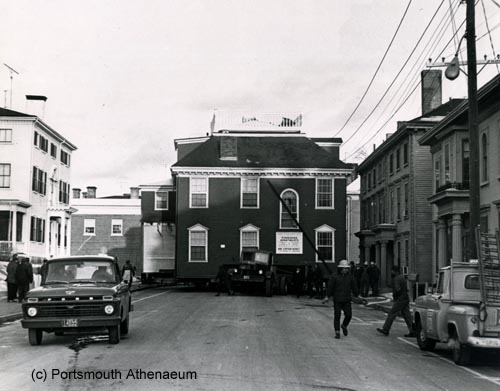 Joseph Whipple House moved down State Street in 1969
