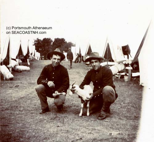 Camp Heywood soldiers on Seavey's Island 1898