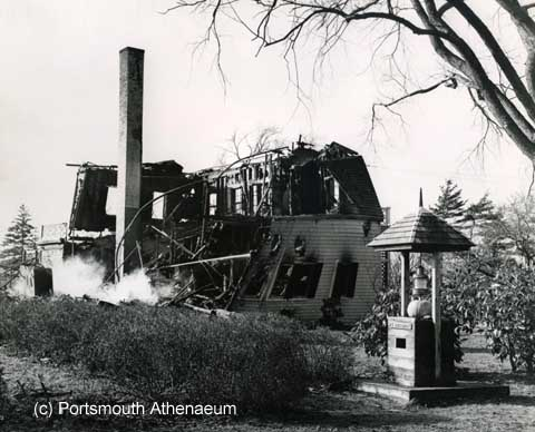 After the fire, Newcastle, NH 1968