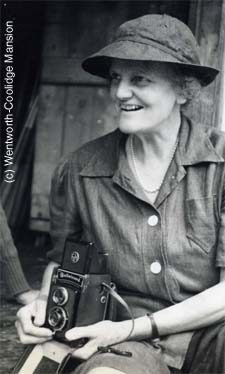 Molly Coolidge and her camera / Courtesy Wentworth Coolidge Mansion