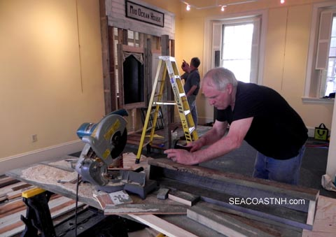 Making the replica porch of the 1846 Smuttynose hotel / SeacoastNH.com