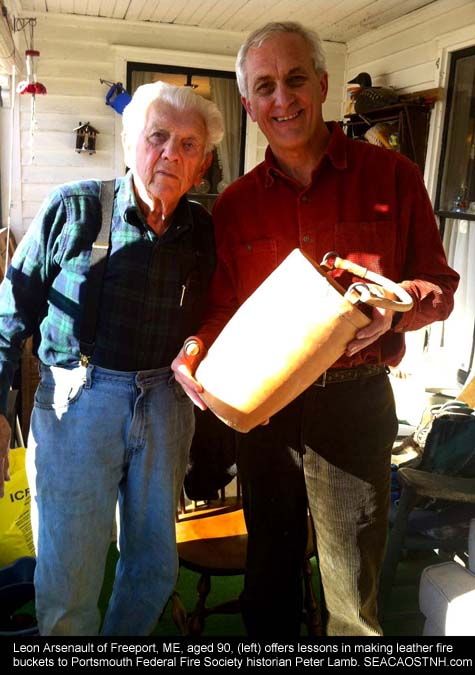 Leon Arsenault and Peter Lamb with Fire bucket