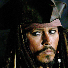 Jack_Sparrow, the most famous fake pirate (c) Disney Corp
