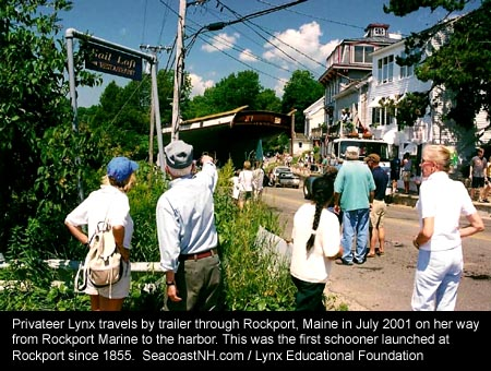 Privateer Lynx in Rockport Maine July 2001/ Lynx Educational Foundation on SeacoastNH.com