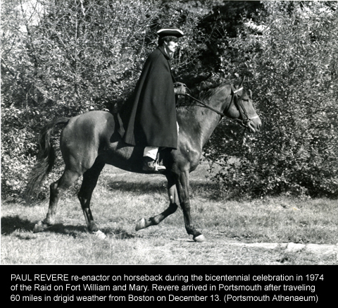 Paul_Revere_Rides_Again in 1974 Bicentennial of the Powder Alarm (Portsmouth Atheneum)