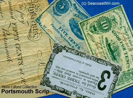 Scrip Notes from Portsmouth, NH merchants replaced missing coins in war economy / Kevin Lafond Collection on SeacoastNH.com