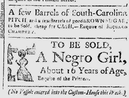18th Century NH Gazette Ad / SeacoastNH.com