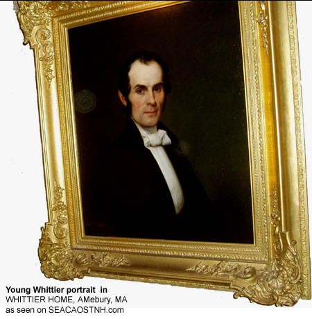 Whittier_portrait at Amesbury Home museum / J. Deenis Robinson photo