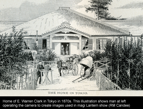 Clark's home in Tokyo from engraving in his history of Japan