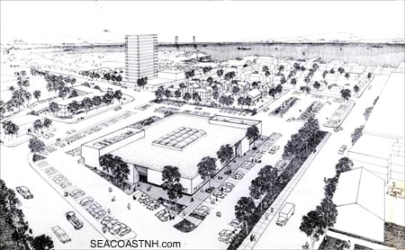 Proposed North End modern design never built / SeacoastNH.com courtesy Richard Candee