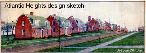 Atlantic Heights 1919 design sketch / SeacoastNH.com courtesy Kevin Lafond