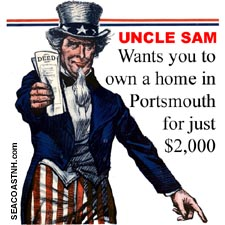 Uncle Sam sells Atlantic Heights in NH in 1925/ SeacoastNH.com ? art courtesy Kevin Lafond