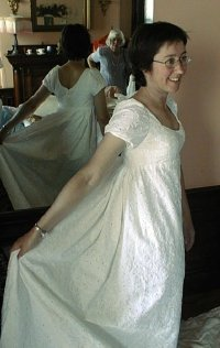 Maryellen Burke and the magic empire dress in 2003