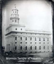 Mormon Temple at Nauvoo described by Charlotte Haven of Portsmou NH in 1843/ Library of Congress photo