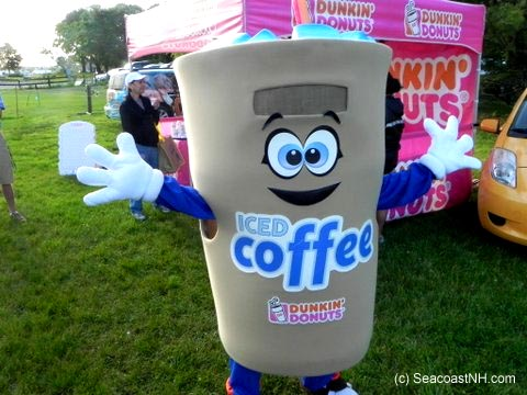 Person in coffee cup suit