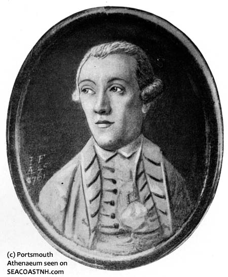John Fisher, Sr. done in 1762, the year he first came to Portsmouth – Courtesy of the New Hampshire Historical Society.