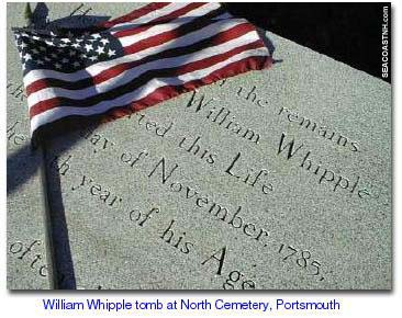 William Whipple grave in Portsmouth, NH (c) SeacoastNH.com